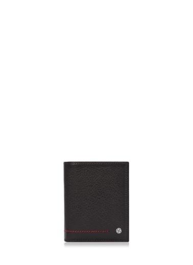 Cengiz Pakel Hakiki Deri Erkek Cüzdan 13643-Siyah-Camel Renkli